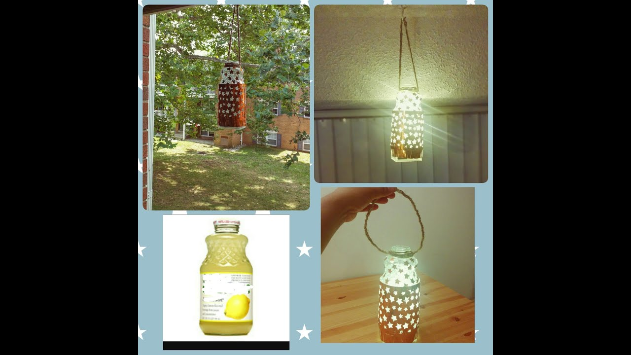Home Design Ideas Youtube: Reusing Glass Bottle For Hanging Lamp/ DIY/Little Home