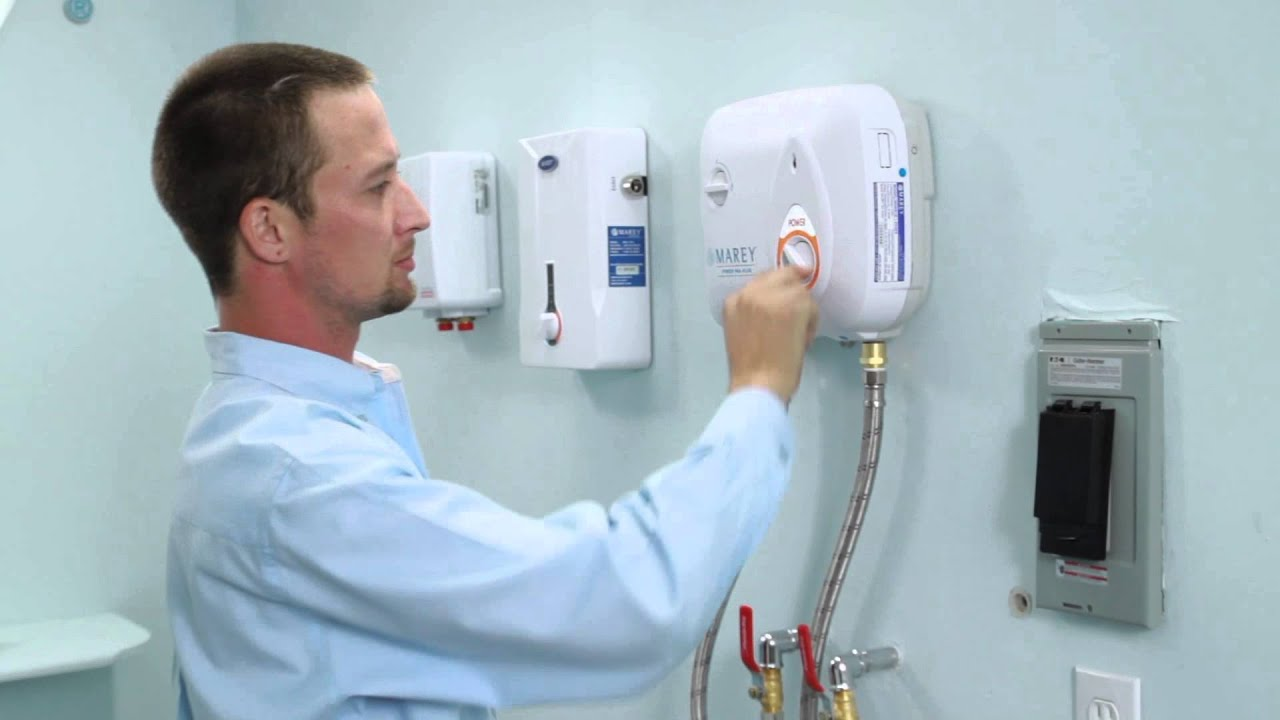 Installation Of Electric Tankless Water Heater Youtube