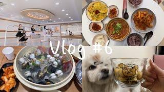 Vlog / 일상.발레강사.31cm해물칼국수.집밥.먹방…