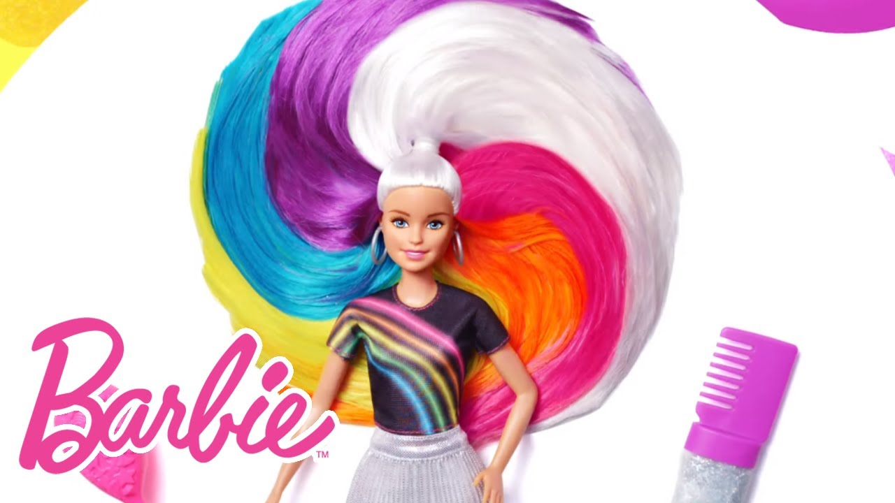 Awesome Rainbow Glitter Hair Barbie wallpapers to download for free greenvirals