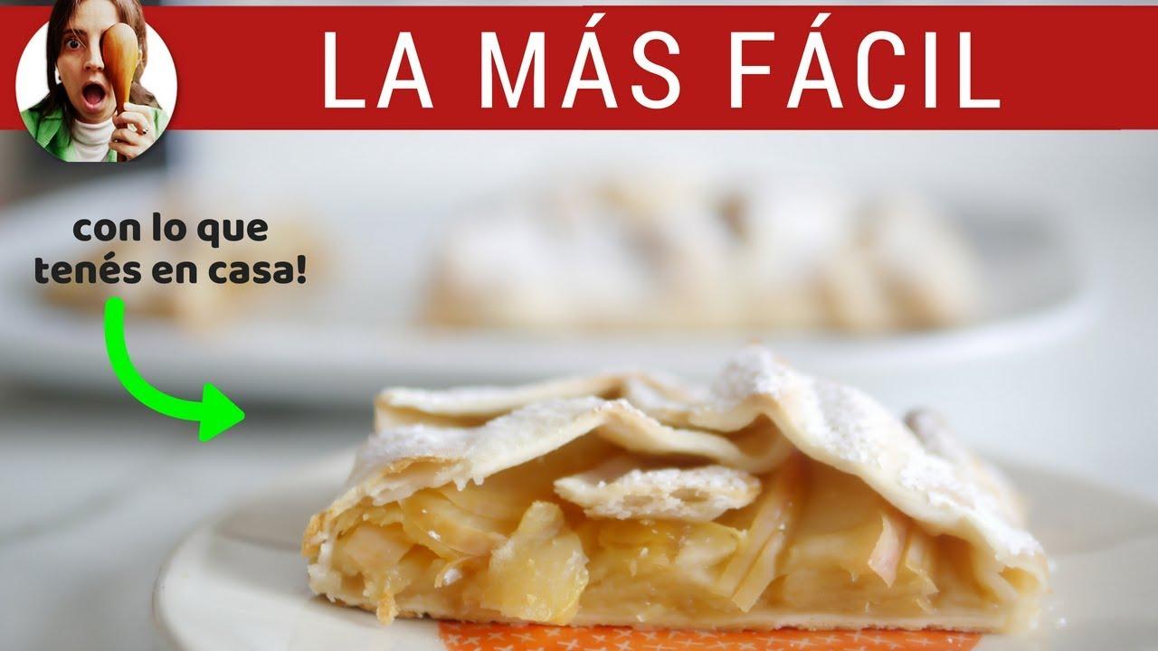 TARTA DE FRUTAS MUY FÁCIL (de manzana y sin azúcar)