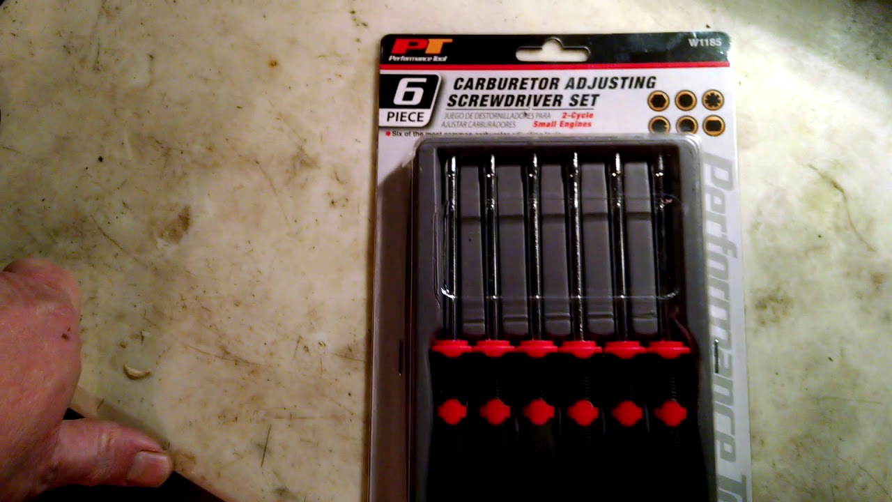 2 cycle carb adjustment screwdrivers, found at Menards!