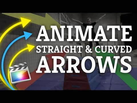 Final Cut Pro X: Arrow Animations Using Keyframes For Highlights [Straight & Curved ]