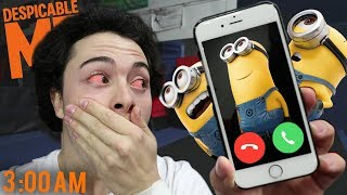 DO NOT FACETIME MINIONS AT 3AM!! (DESPICABLE ME MINIONS!!)