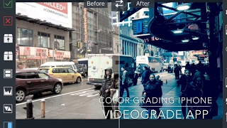 VIDEOGRADE app Color Grading Tutorial FiLMiC Pro v6 LOG iPhone Cinematic