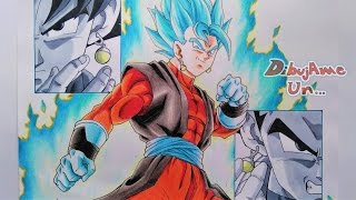 Como Dibujar a VEGETTO XENO Ssj Blue/Colores Escolares. How to Draw Vegetto Super Dragon Ball Heroes