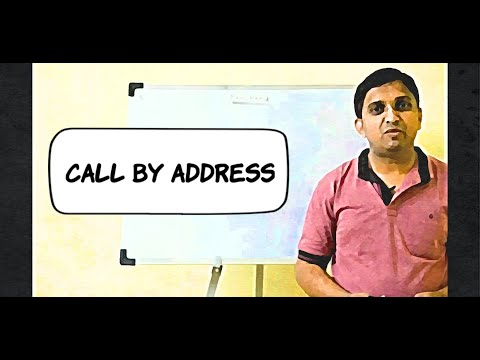 Call by Address | Function Call | Programming in C