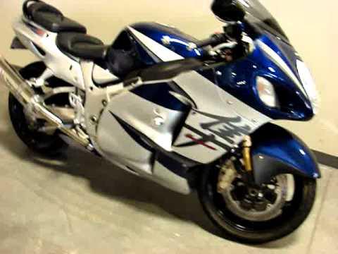 2005 Suzuki Hayabusa Blue/White At RideNow Peoria - YouTube