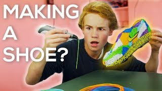 DRAWING A SHOE WITH A 3D PRINTING PEN!