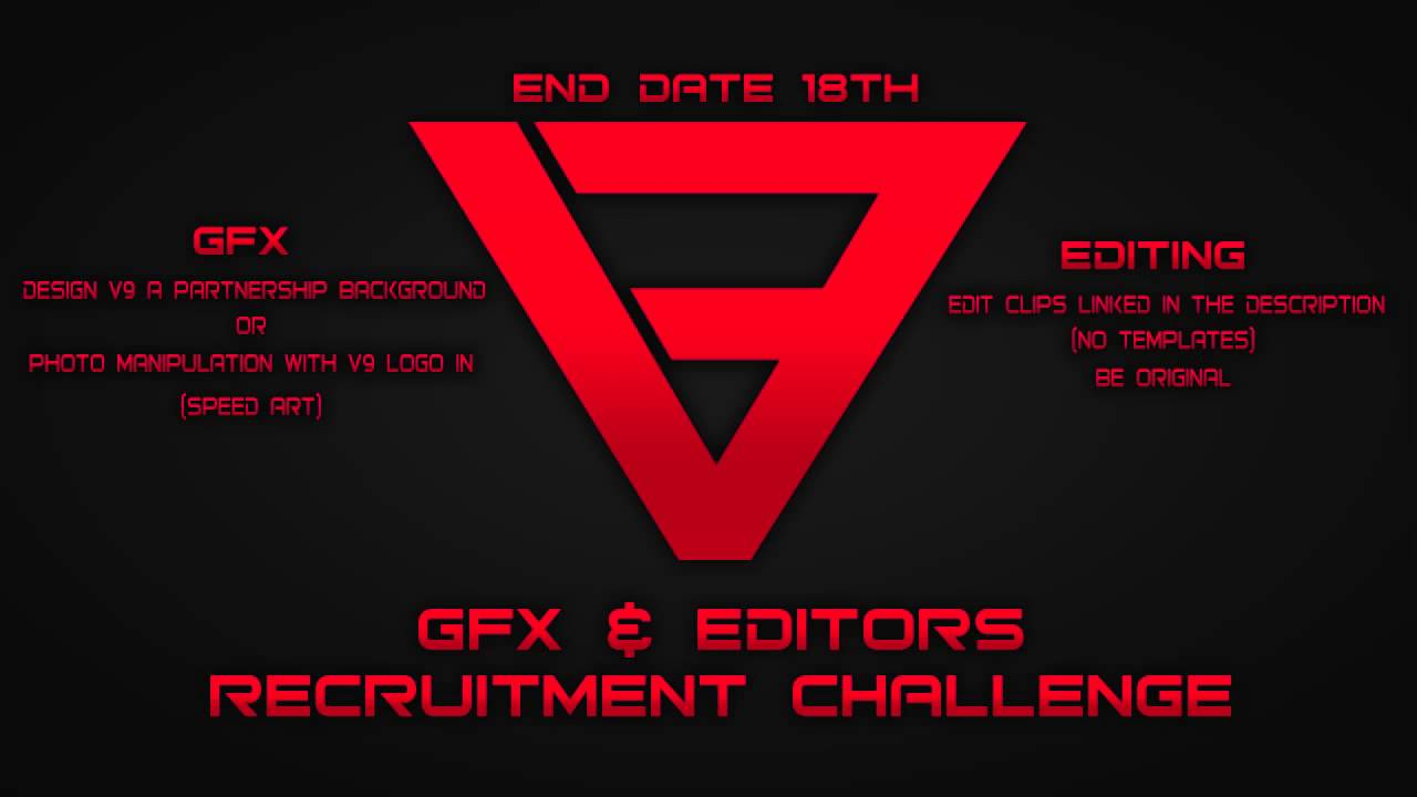 V9 Gfx Amp Editing Recruitment Challenge Ended Youtube