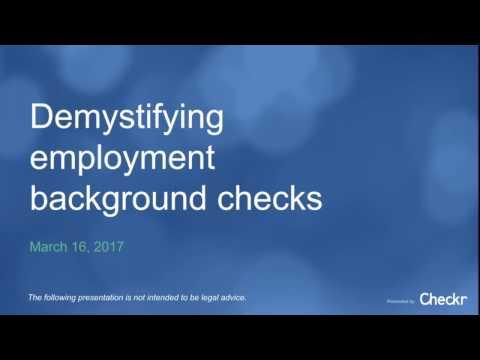Webinar - Demystifying background checks