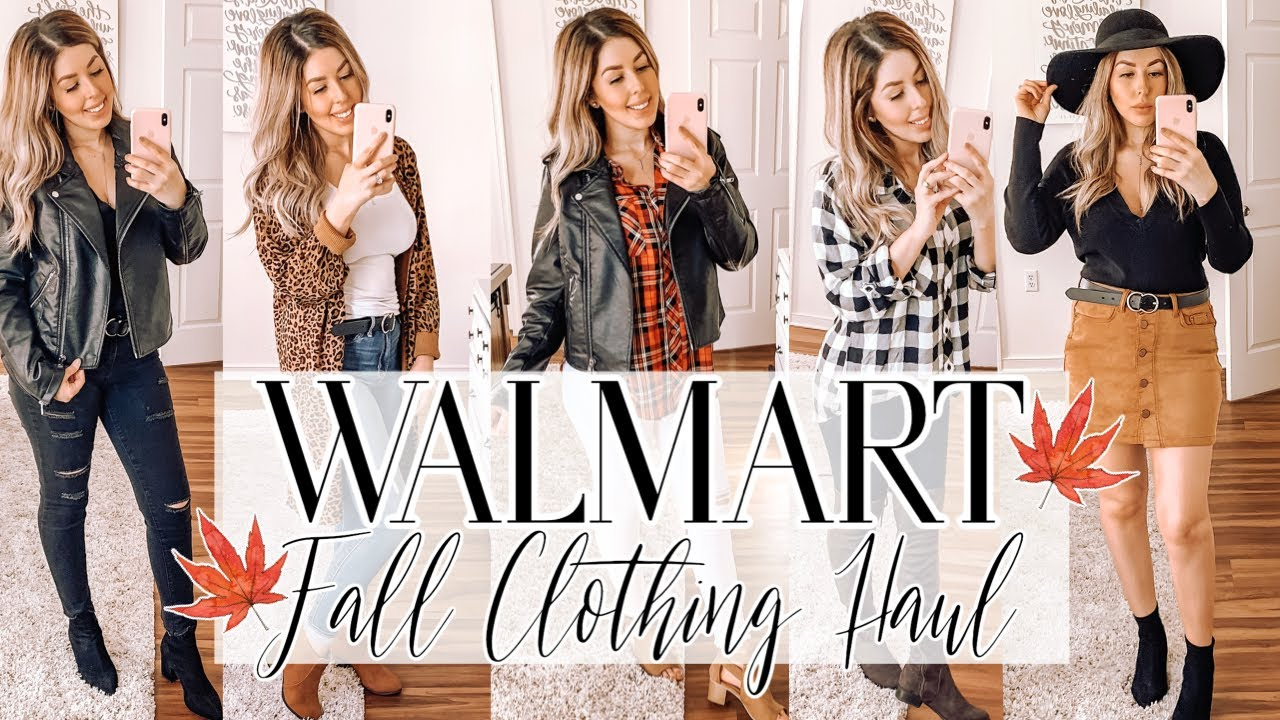 WALMART FALL CLOTHING HAUL 2019 | SHOP WITH ME | TRY ON | FALL OUTFIT IDEAS 1
