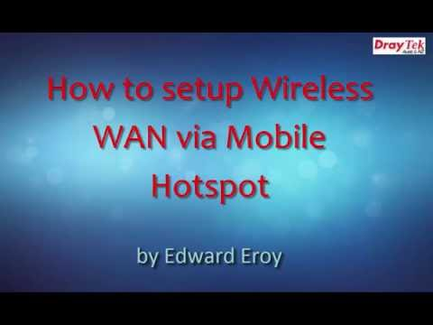 how to set up a wan