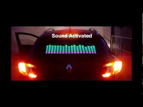 Car Beauty Parlour Sound Activated Car Equalizer Sticker