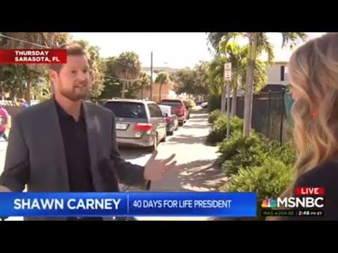 MSNBC interviews 40 Days for Life participants