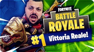 FORTNITE IN ONLY AND ARRIVE MY FIRST REAL VITTORY ! [Fortnite Battle Royale]