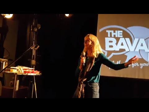 Barefoot Beauty at The Bavard Bar, speaking about living fully