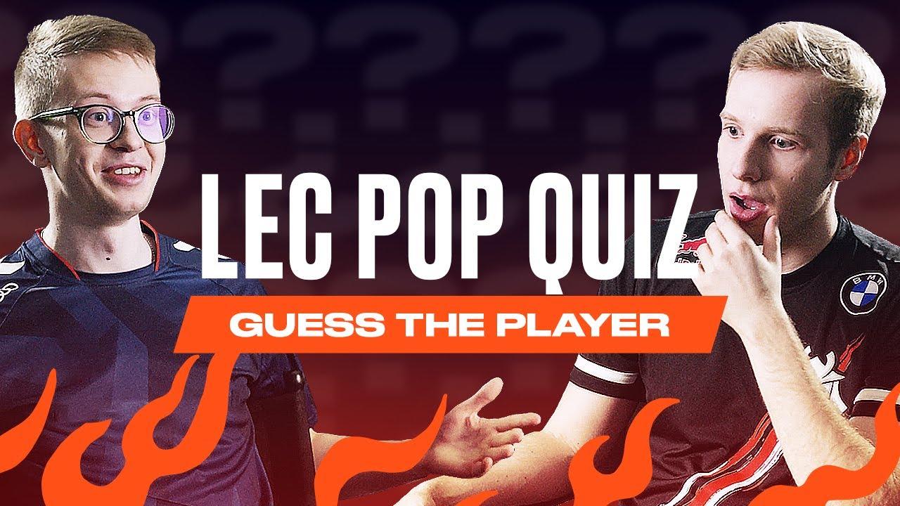 Guess the Player | LEC Pop Quiz | 2021 Summer