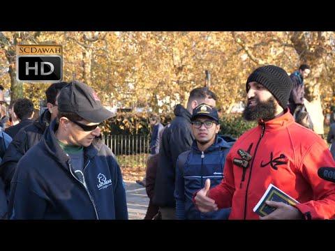 **Must Watch!** P1 - Going Ape on Evolution!? Suboor Vs Phil (Atheist)   Speakers Corner   Hyde Park