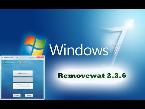 how to remove wat from windows 7 ultimate
