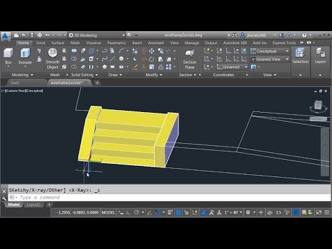Converting wireframe geometry into a Civil 3D solid model - Part 1