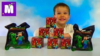 Майнкрафт игрушки сюрпризы распаковка коробочек и пакетиков с игрушками Minecraft unboxing toys
