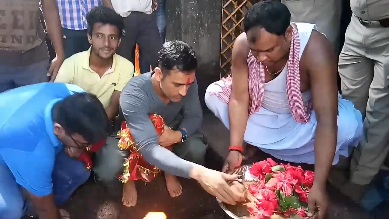 Image result for dhoni in mandir pic