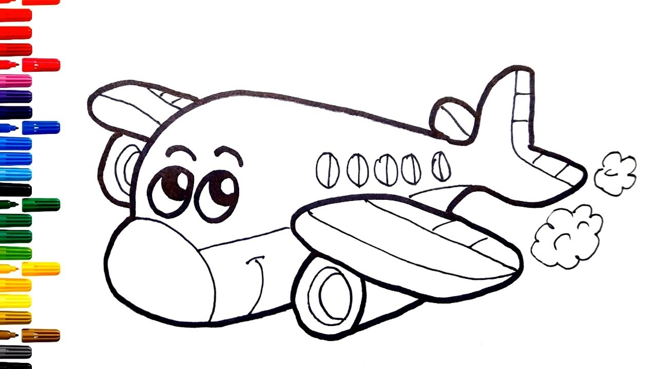 Kids Airplane Toy Drawing for Kids How to Draw Airplane ...