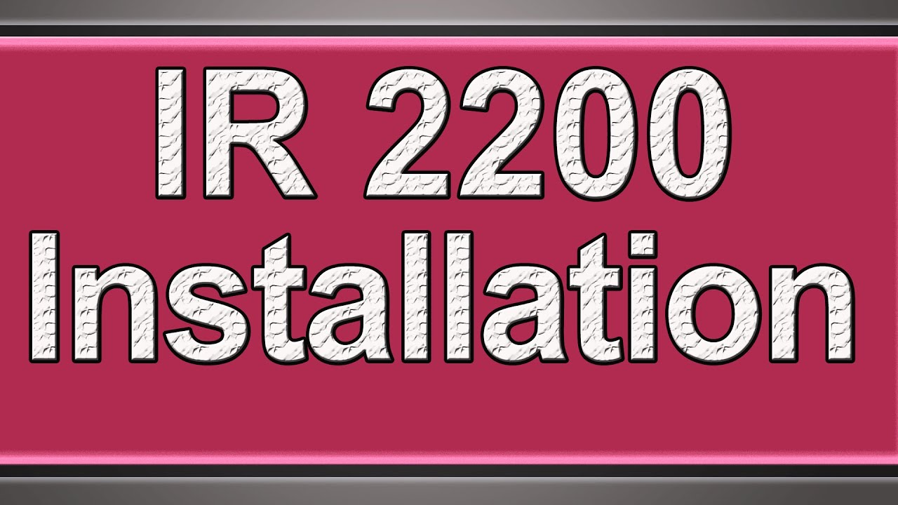 Canon imagerunner 2200 driver.