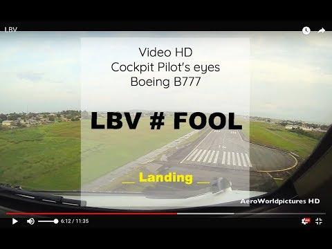 Cockpit   Landing ✈ LIBREVILLE ( LBV / FOOL ) GABON ✈ B777 - RWY16 [HD]