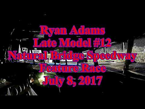 Ryan Adams in-car for Natural Bridge Speedway Late Model Feature - 7/8/17