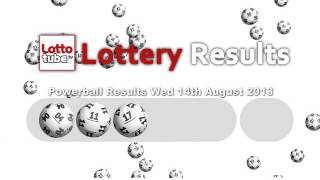 Powerball Winning Numbers for Wednesday August 14th 2013