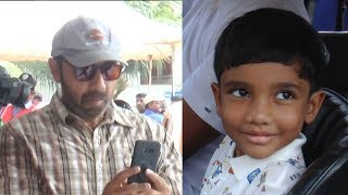 Satyaraj Becomes Photographer for his Grandson in Heritage Car Exhibition| nba 24x7