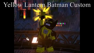 How To Make Yellow Lantern Batman In Lego DC Super-Villains Custom Character