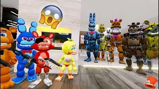 CAN FNAF WORLD HIDE FROM THE NIGHTMARE ANIMATRONICS? (GTA 5 Mods For Kids FNAF RedHatter)