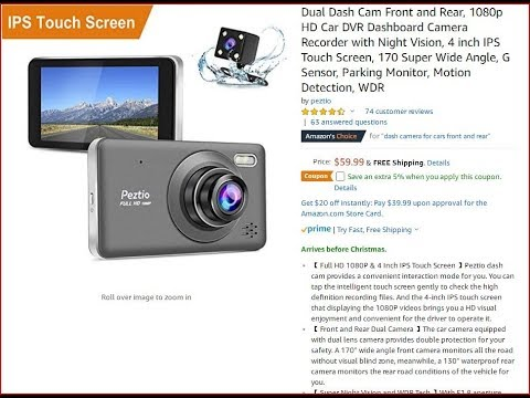 Test Footage! Dual Dash Cam Front And Rear, 1080P Unboxing And Review