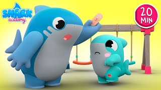 Baby Shark helps his friends! - Sharks Learn Good Behavior for Kids - Baby Shark Song for Kids