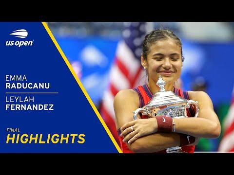 Emma Raducanu vs Leylah Fernandez Highlights   2021 US Open Final