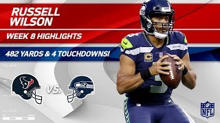 Russell Wilson's Unbelievable 482 Total Yards & 4 TDs | Texans vs. Seahawks | Wk 8 Player Highlights