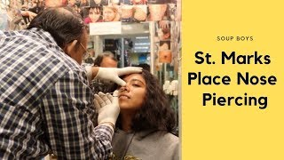 Getting Septum Piercing at St. Marks Place NYC - Soup Boys Vlog
