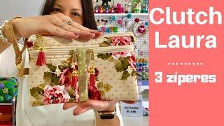 Como Fazer a Clutch Laura com 3 zíperes