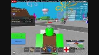 Roblox-Bikini Bottom vs ZOMBIES!!! Part 2
