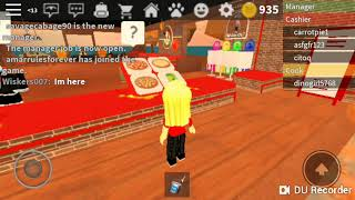 Work at the pizza place on Roblox