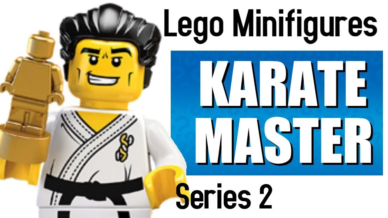 Série 2 LEGO Minifigure Karate Master avec trophée