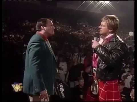 Roddy Piper talks to Jim Cornette about heat from their interview segment