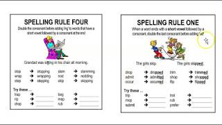SPELLING RULES - DICTATION