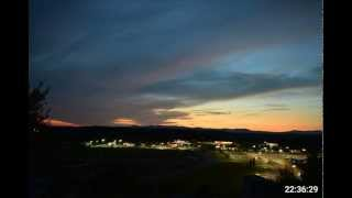 Ellijay Georgia Sunset Time Lapse