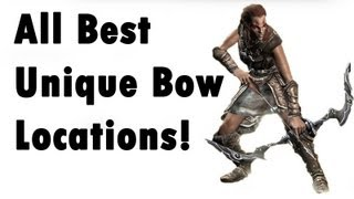 Skyrim - ALL Unique Bow - Locations (Best, secret) - YouTube