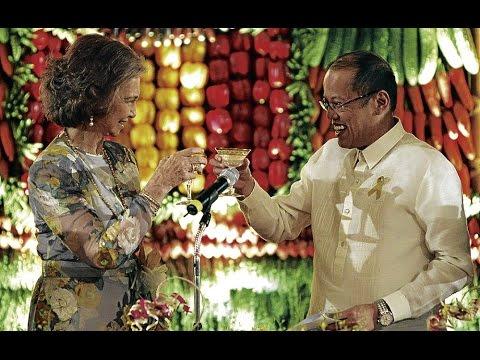 Presidente de Filipinas Benigno Aquino III habla español en la visita de la Reina Doña Sofía