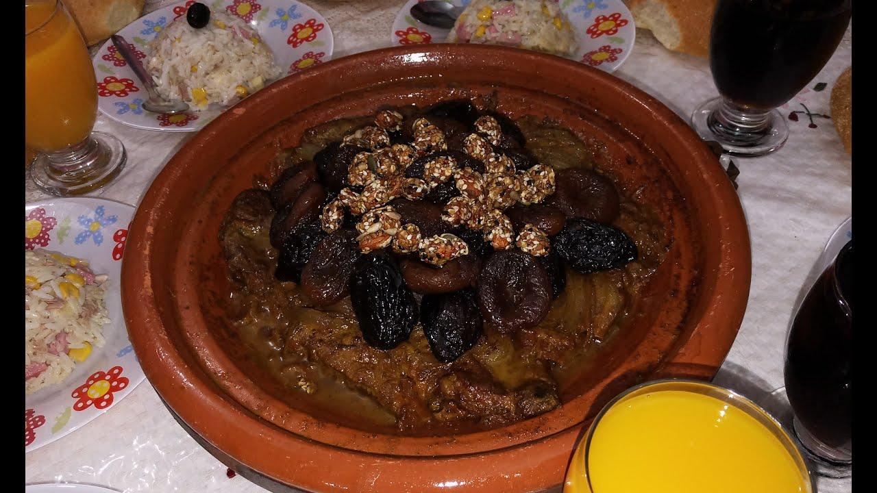 طريقة عمل طاجين مغربي باللحم و البرقوق و المشمش طبق المناسبات و العراضات